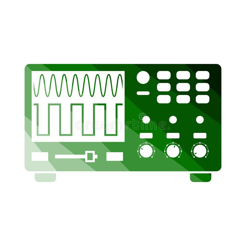 Ic?ne d'oscilloscope illustration stock