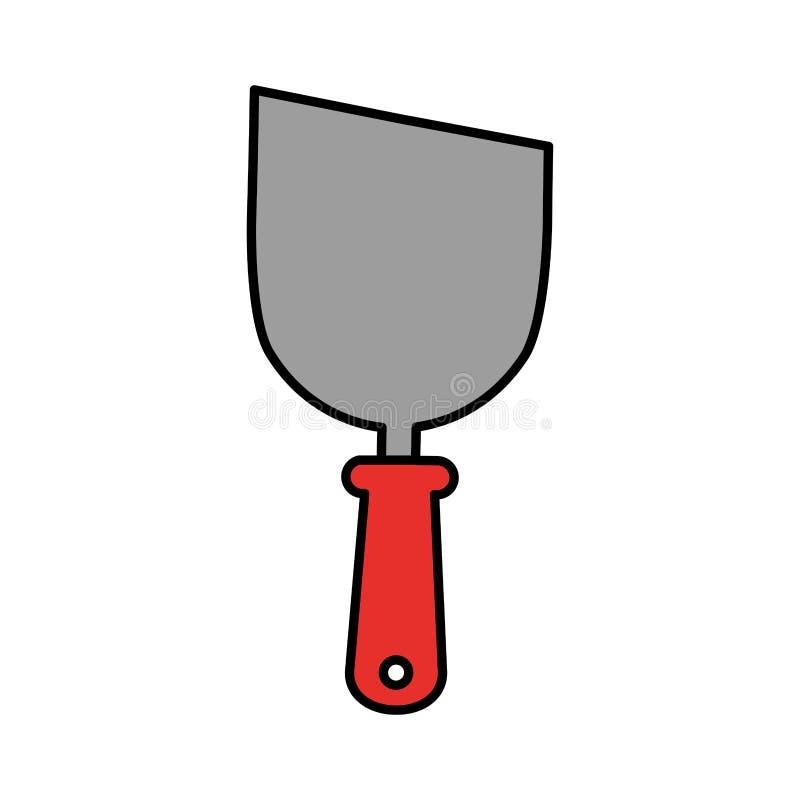 Icône d'outil de construction de spatule illustration de vecteur