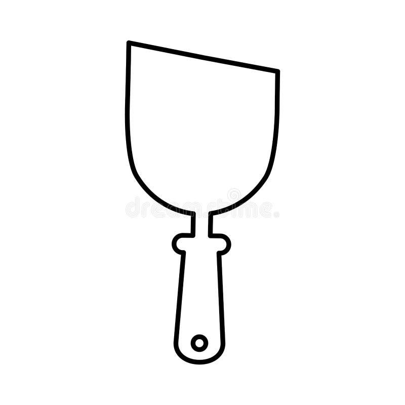 Icône d'outil de construction de spatule illustration libre de droits