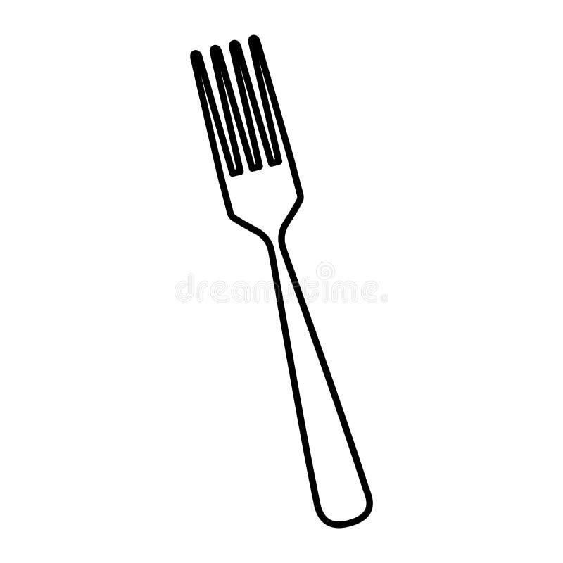 Icône d'outil de couverts de fourchette illustration stock