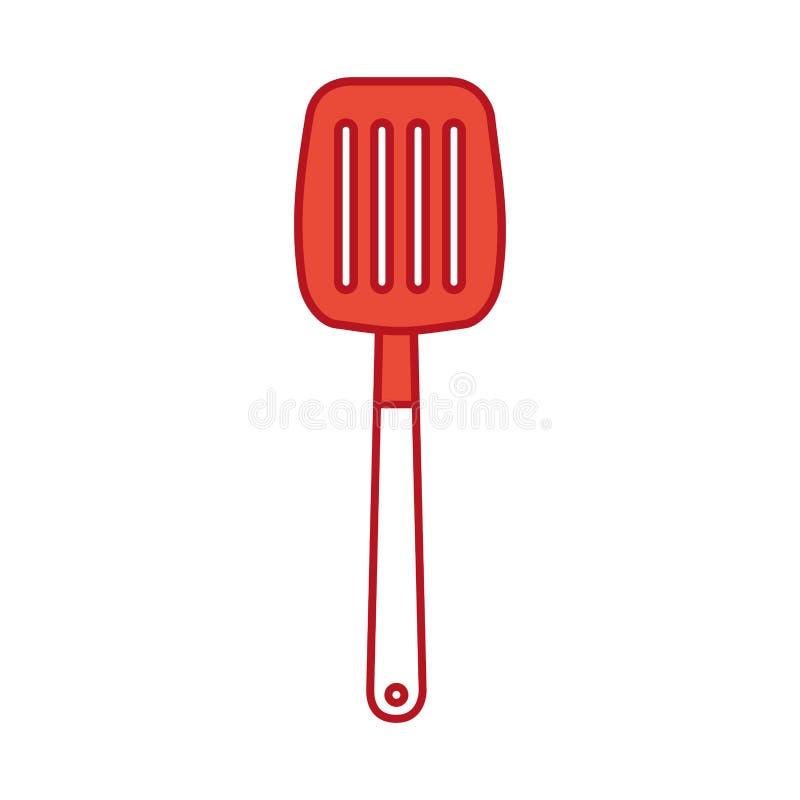 Icône d'outil de spatule de cuisine illustration de vecteur