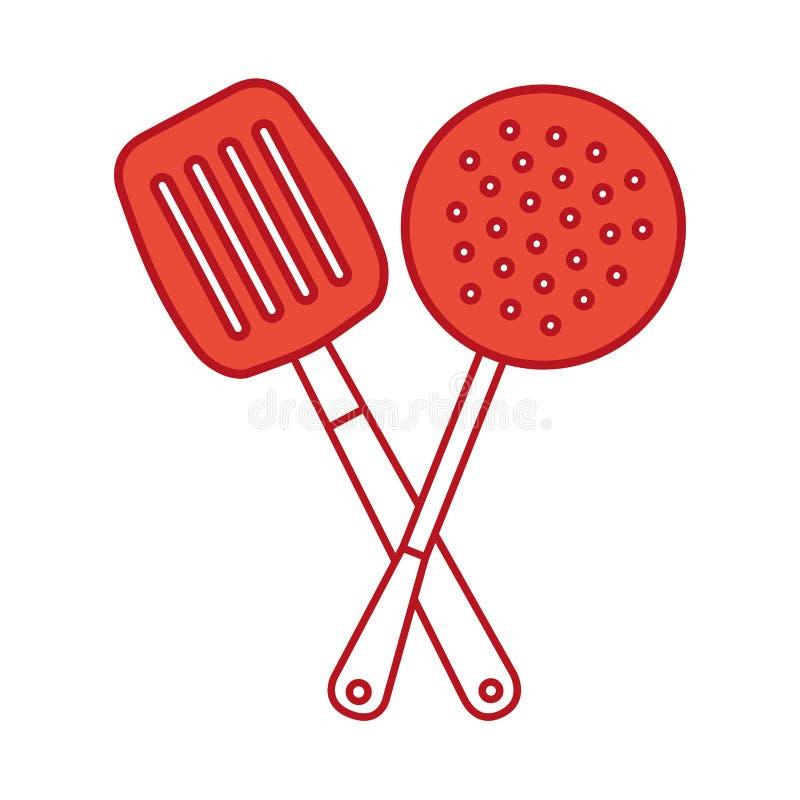 Icône d'outil de spatule de cuisine illustration stock