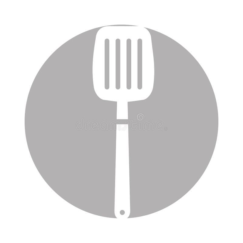 Icône d'outil de spatule de cuisine illustration libre de droits