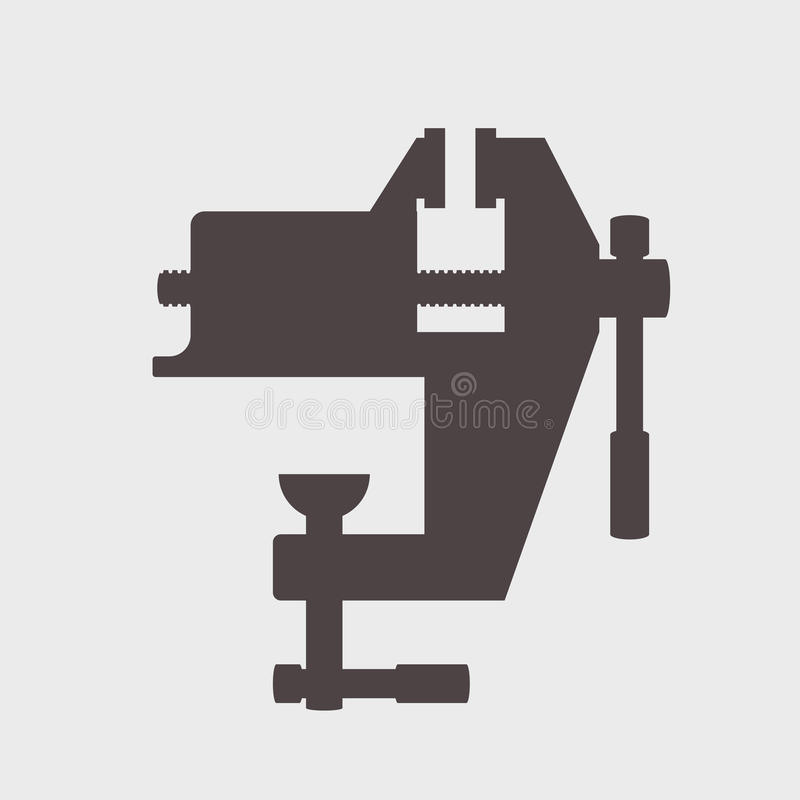 Icône d'outil de vis de banc illustration de vecteur