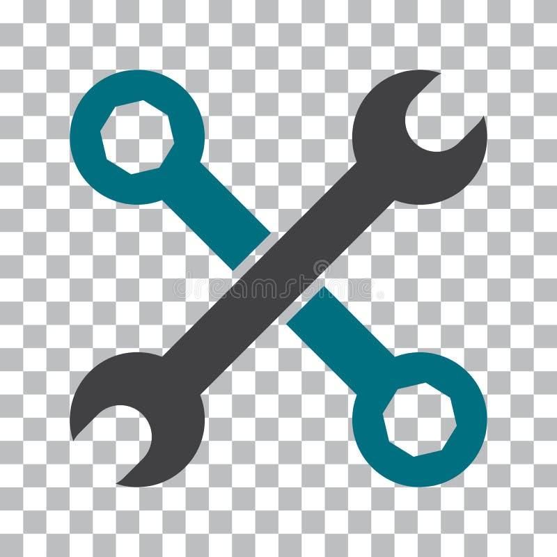 Ic?ne d'outils d'arrangement Objets noirs et bleus Illustration de vecteur illustration stock