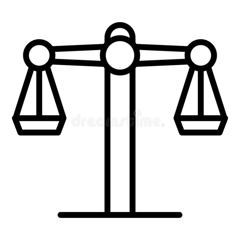 Ic?ne d'?quilibre de juge, style d'ensemble illustration de vecteur