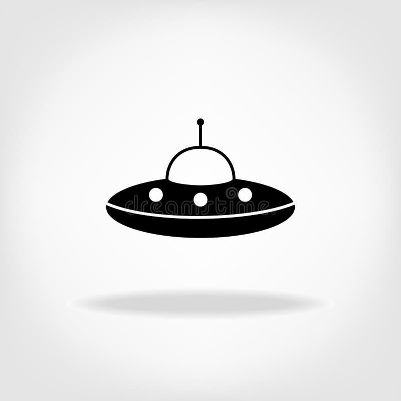 Icône d'UFO Soucoupe volante en UFO illustration stock