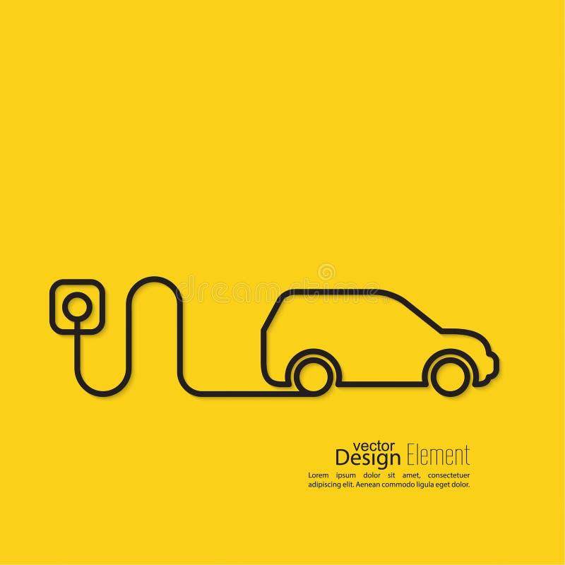 Icône d'une voiture hybride illustration stock