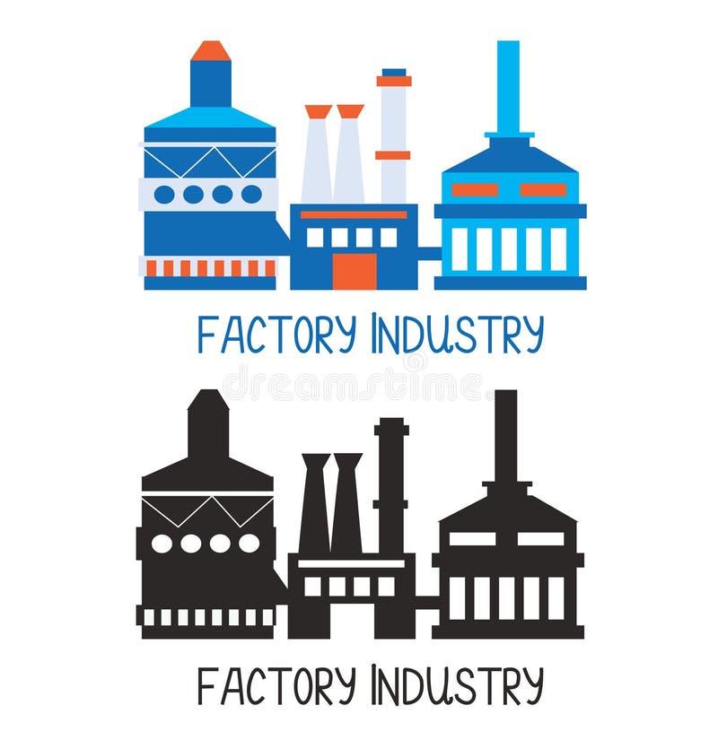 Icône d'usine pour l'élément de logo ou de conception illustration stock
