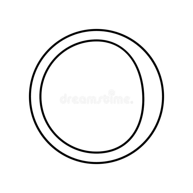 ic?ne de affaiblissement de croissant de lune Élément de si pour le concept et l'icône mobiles d'applis de Web Contour, ligne min illustration libre de droits
