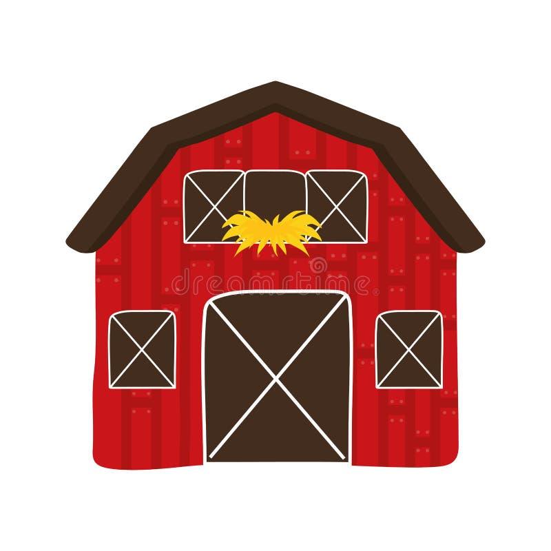 Ic ne de b timent concept de ferme dessin de vecteur illustration de vecteur illustration du - Dessin d une ferme ...