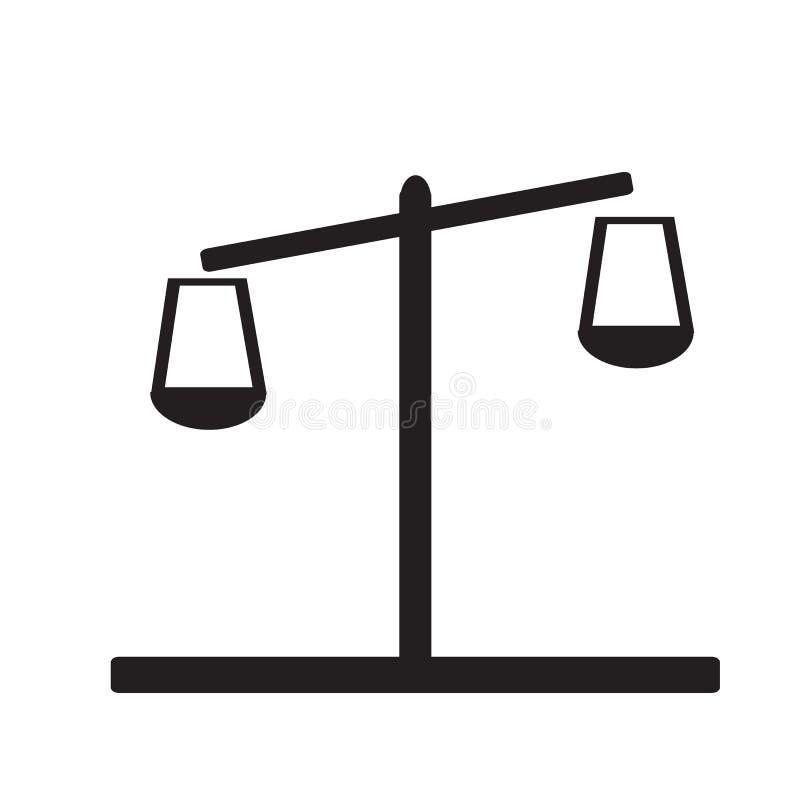Icône de Balance sur le fond blanc illustration stock