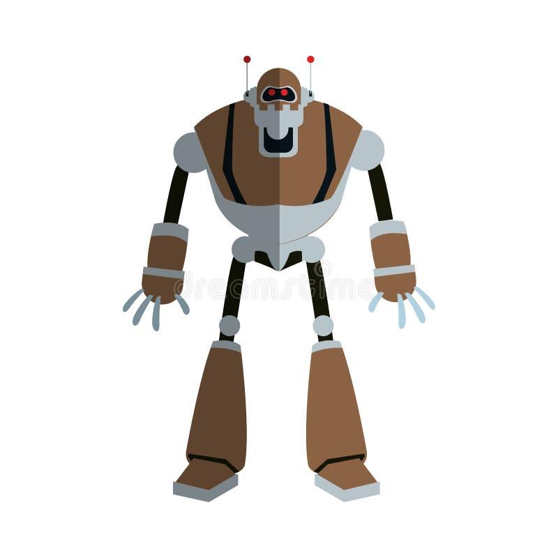 Icône de bande dessinée de robot illustration de vecteur