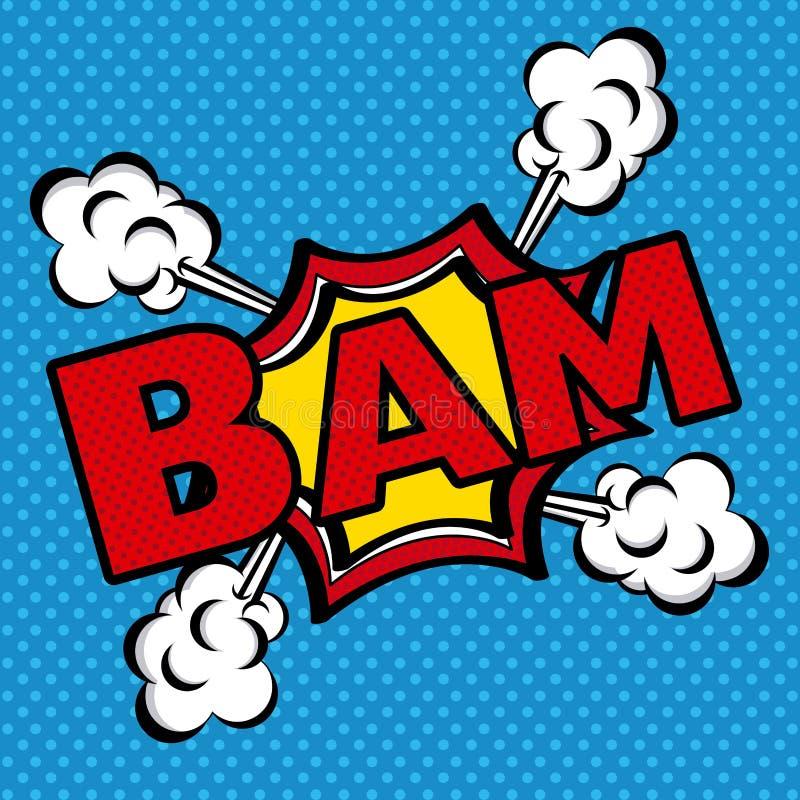 Icône de bandes dessinées de bam photo libre de droits