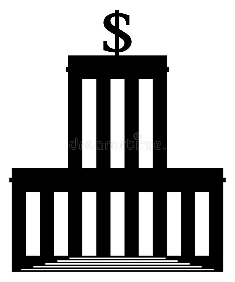 Icône de banque illustration de vecteur