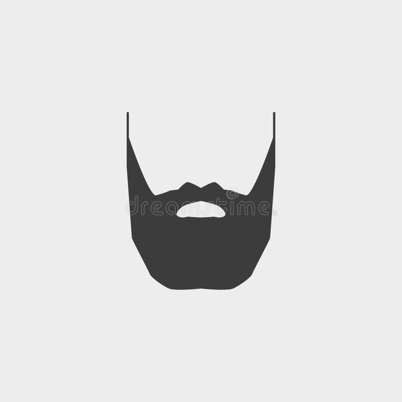 Icône de barbe et de moustache dans une conception plate dans la couleur noire Illustration EPS10 de vecteur illustration libre de droits