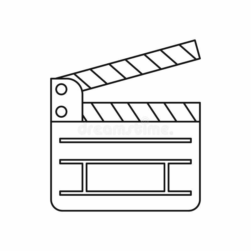 Icône de bardeau dans le style d'ensemble illustration libre de droits