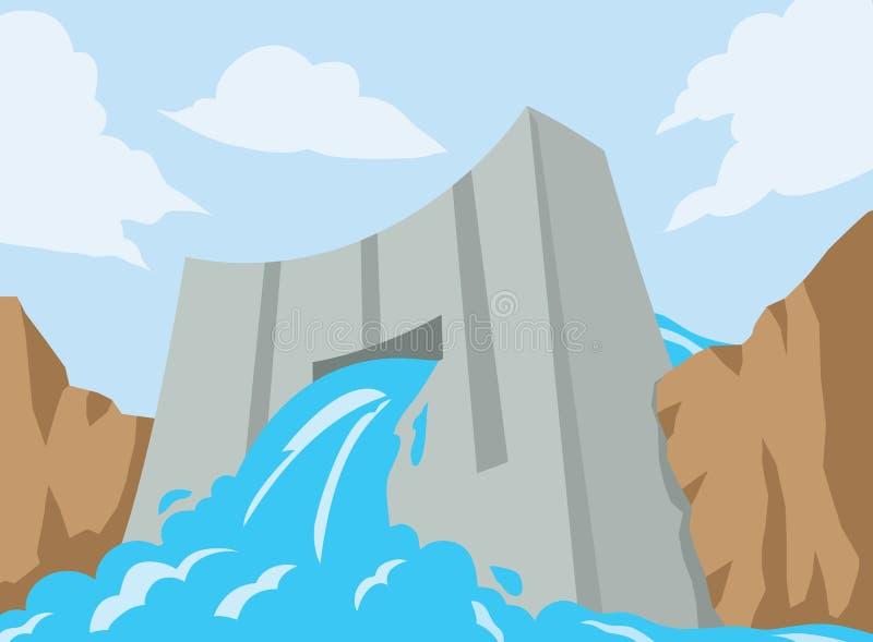 Icône de barrage illustration stock