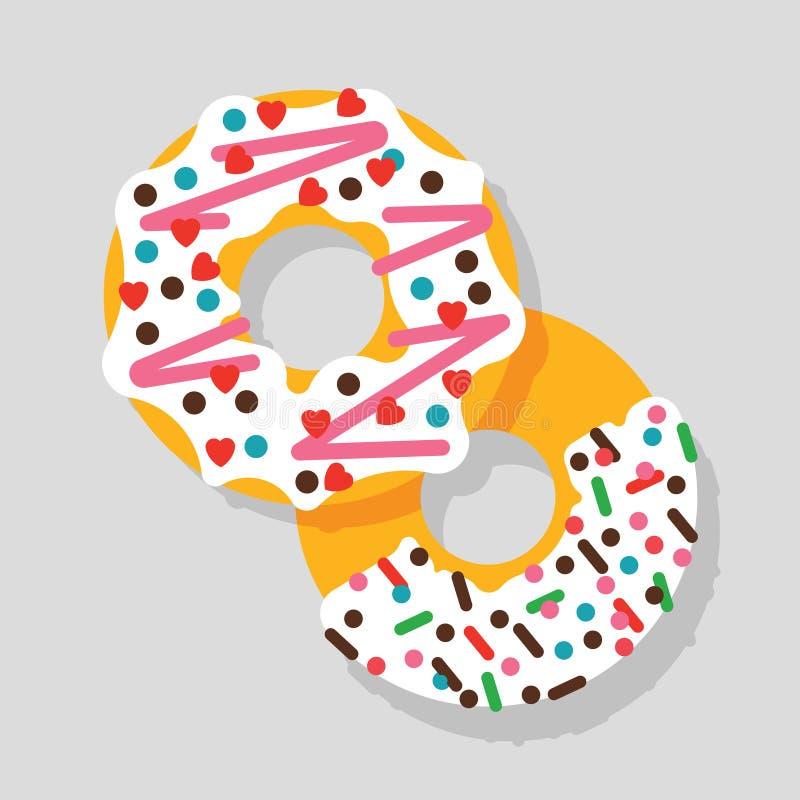 Icône 2 de beignet illustration libre de droits