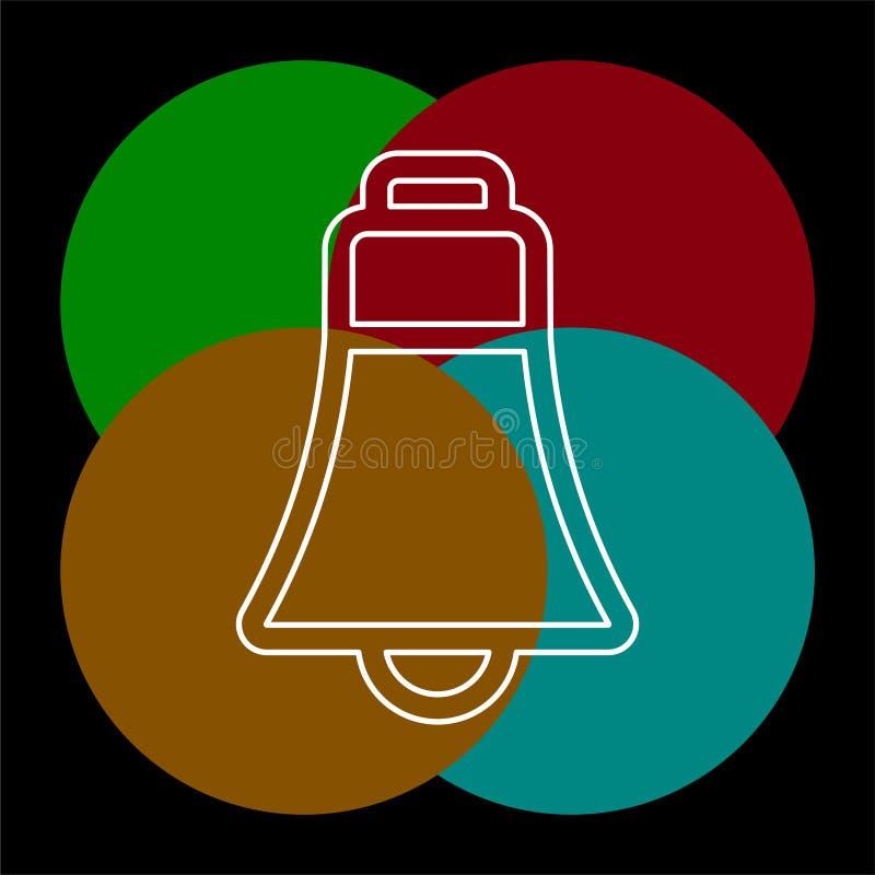 Ic?ne de Bell - symbole d'alarme de vecteur illustration stock