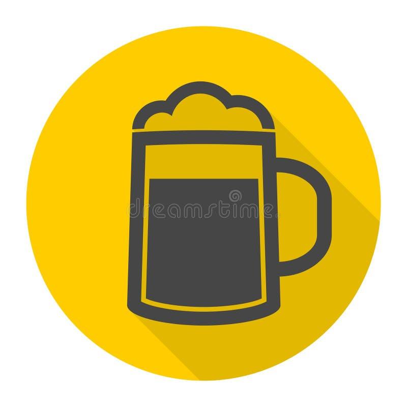Icône de bière illustration de vecteur