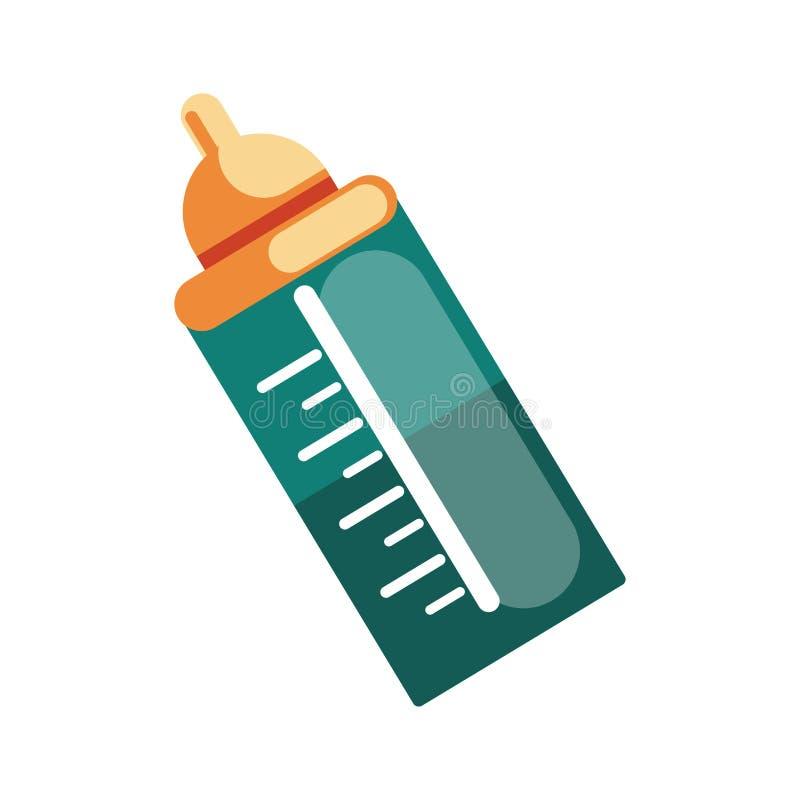 Icône de biberon, accessoire nécessaire pour la préparation du vecteur d'accouchement illustration stock