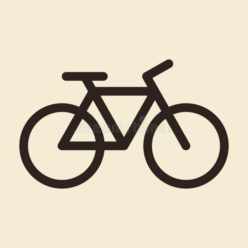 Icône de bicyclette Symbole de vélo illustration stock