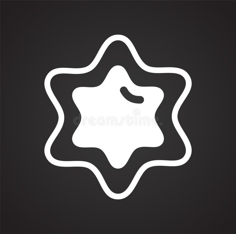 Ic?ne de biscuit sur le fond pour le graphique et la conception web Signe simple de vecteur Symbole de concept d'Internet pour le illustration de vecteur