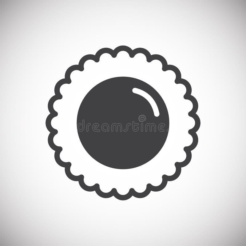 Ic?ne de biscuit sur le fond pour le graphique et la conception web Signe simple de vecteur Symbole de concept d'Internet pour le illustration stock