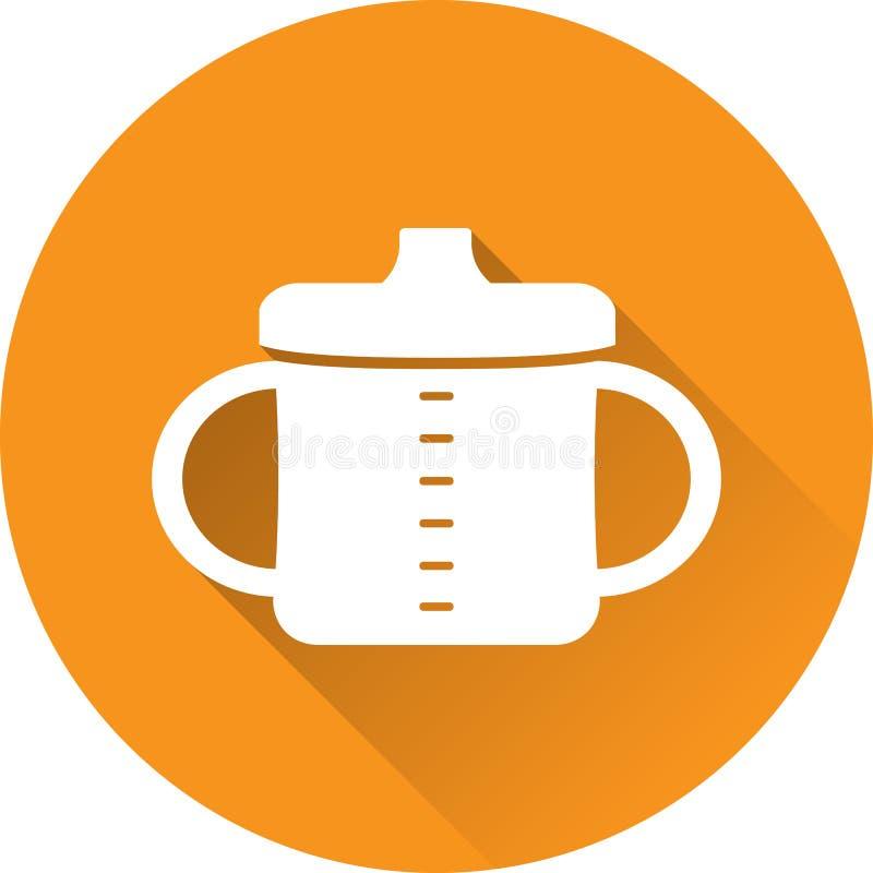 Icône de blanc de tasse de bébé Illustration de vecteur illustration de vecteur