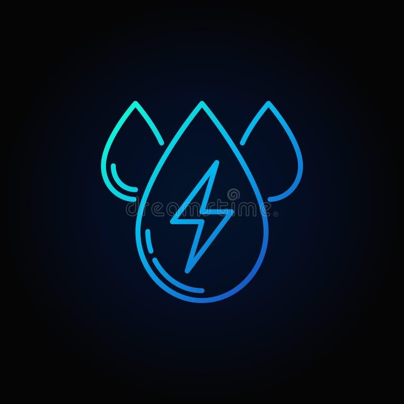 Icône de bleu d'ensemble d'énergie hydraulique illustration libre de droits