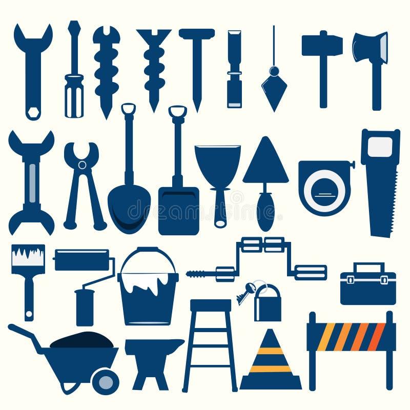 Icône de bleu d'outils de travail illustration de vecteur