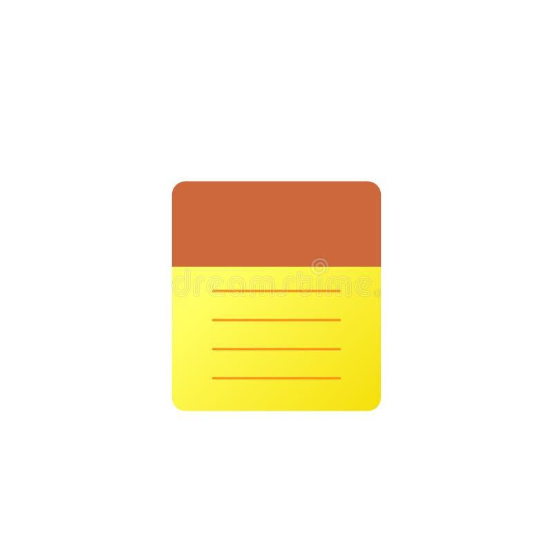 ic?ne de bloc-notes Illustration plate d'icône en spirale vide de vecteur de bloc-notes pour le Web sur le fond blanc illustration stock