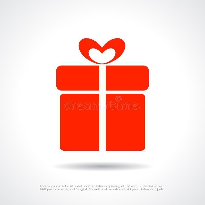 Icône de boîte-cadeau illustration stock