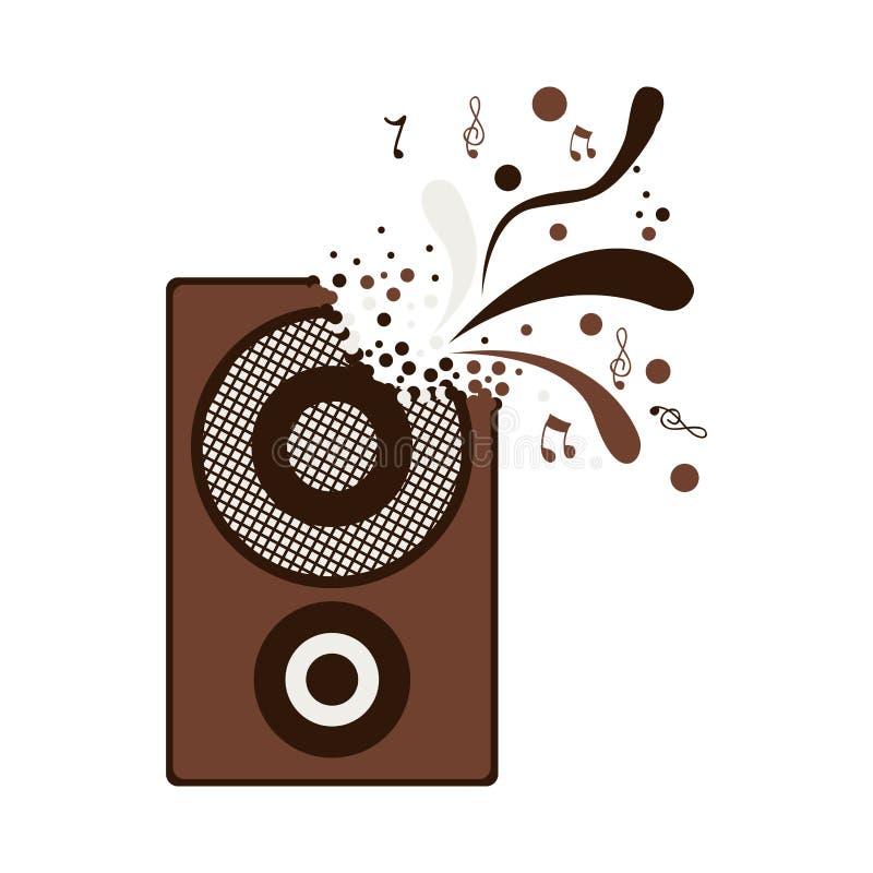 Icône de boîte de haut-parleur illustration de vecteur