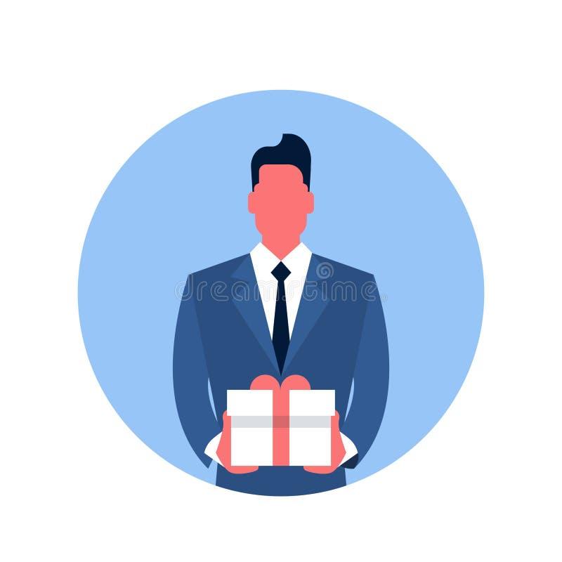 Download Icône De Boîte De Présent De Prise D'homme D'affaires Illustration de Vecteur - Illustration du cadeau, transmission: 77157172