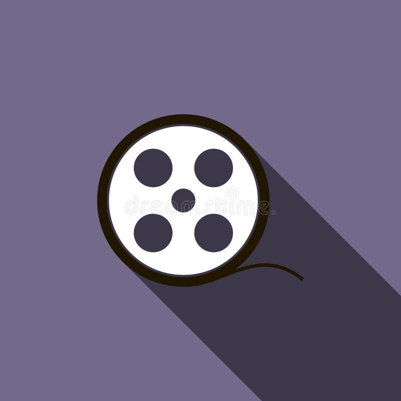 Icône de bobine de film dans le style plat illustration libre de droits