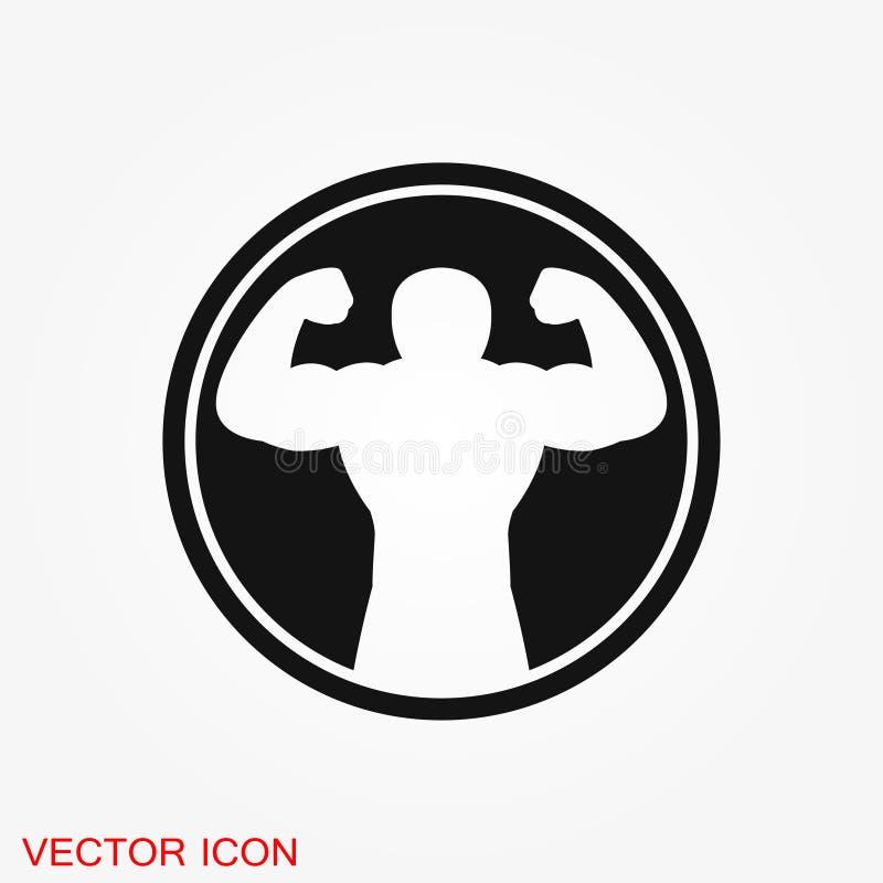 Ic?ne de Bodybuilder, signe de muscle Illustration de vecteur pour le web design illustration libre de droits