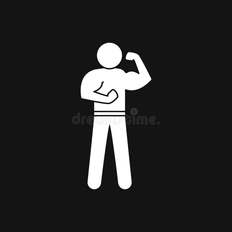 Ic?ne de Bodybuilder, signe de muscle Illustration de vecteur pour le web design illustration stock