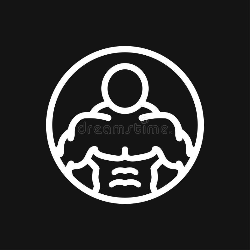 Ic?ne de Bodybuilder, signe de muscle Illustration de vecteur pour le web design illustration de vecteur
