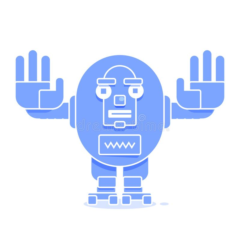 Ic?ne de Bot Concept d'ic?ne de Chatbot Robot de sourire mignon Ligne moderne illustration de vecteur de caract?re d'isolement su illustration de vecteur