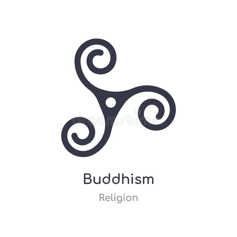 Ic?ne de bouddhisme illustration d'isolement de vecteur d'icône de bouddhisme de collection de religion editable chantez le symbo illustration de vecteur
