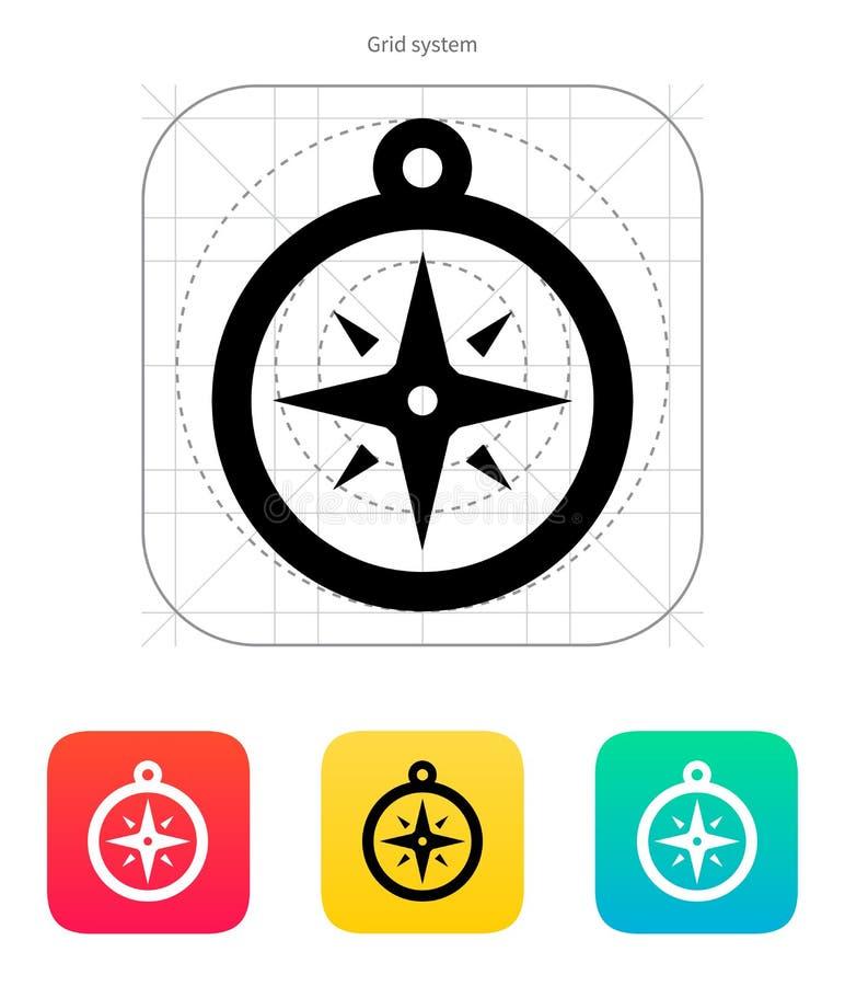 Icône de boussole. Signe de navigation. illustration stock