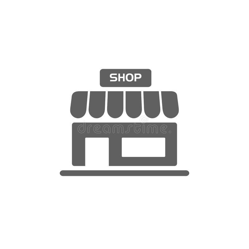 icône de boutique sur des boutons illustration stock