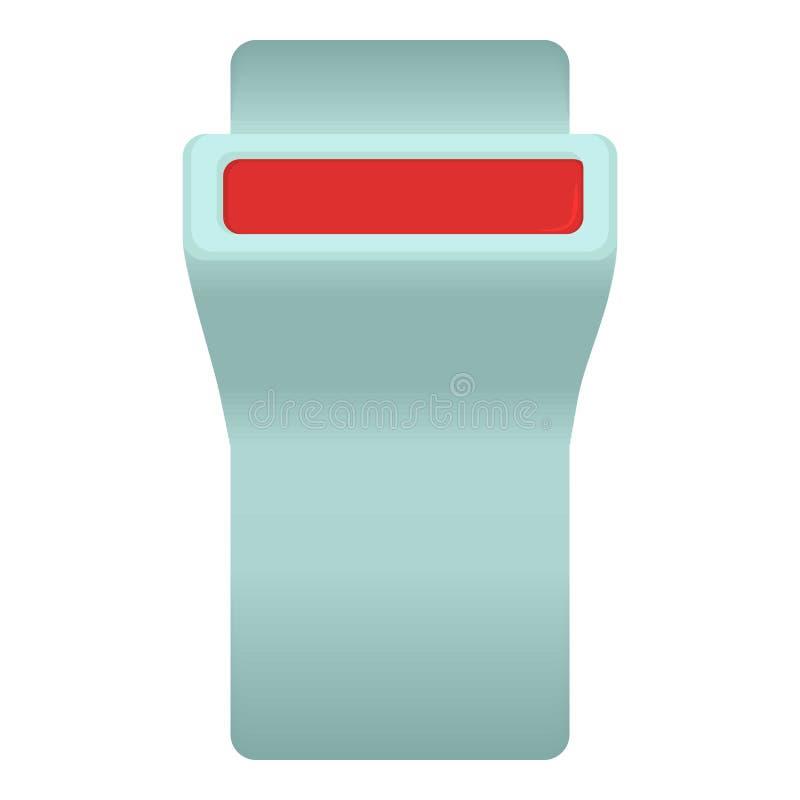 Icône de bouton de ceinture de sécurité, style de bande dessinée illustration de vecteur