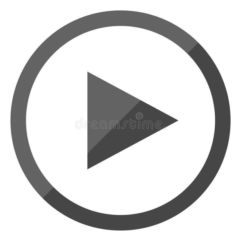 Icône de bouton de jeu illustration stock