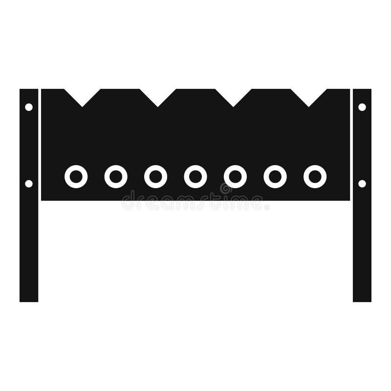 Icône de brasero, style simple illustration stock