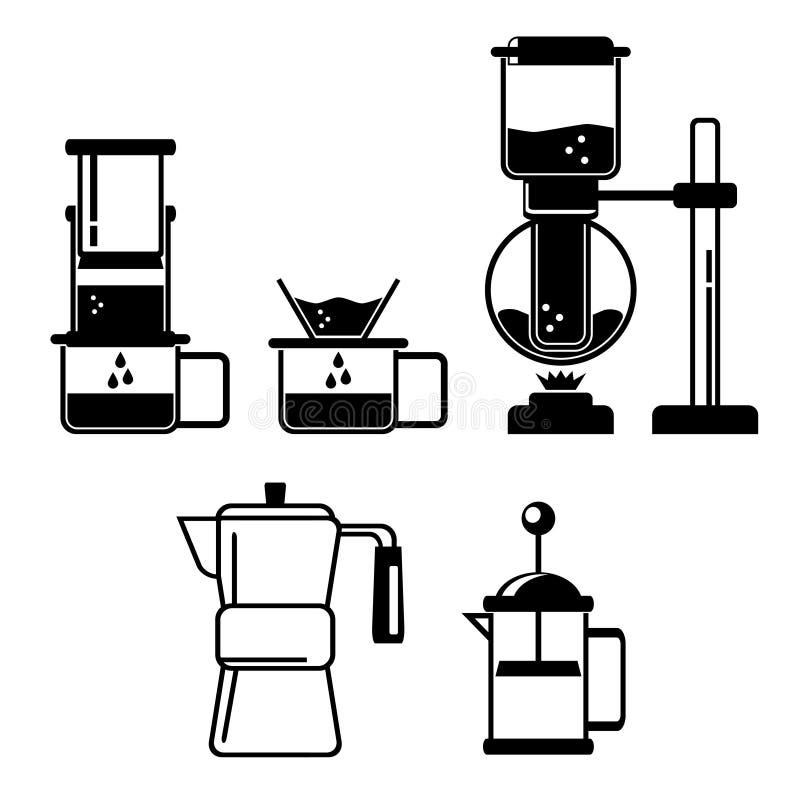 Icône de brassage de café illustration de vecteur