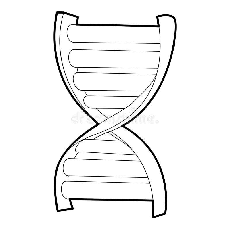 Icône de brin d'ADN, style 3d isométrique illustration libre de droits