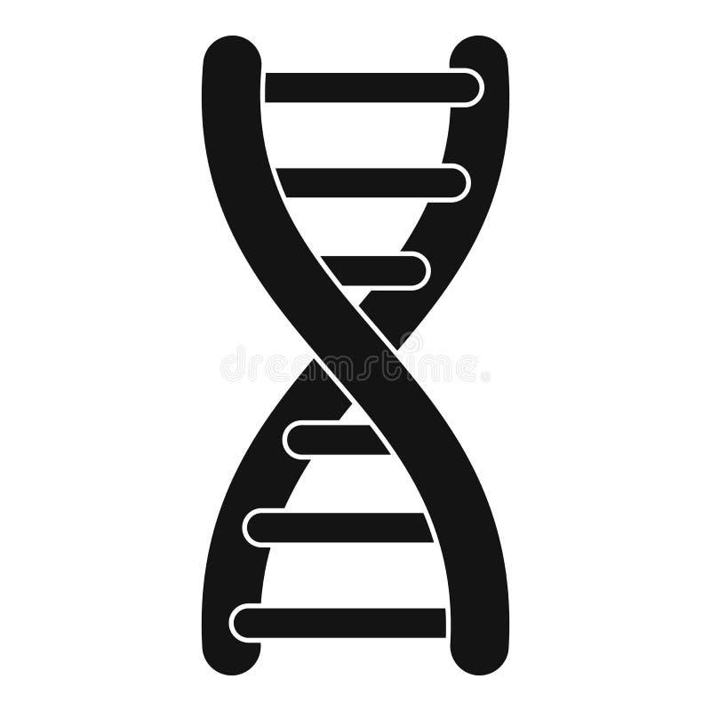 Icône de brin d'ADN, style simple illustration de vecteur